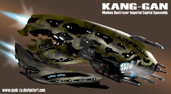 Kang Gan Alien Spaceship by ucok-zs