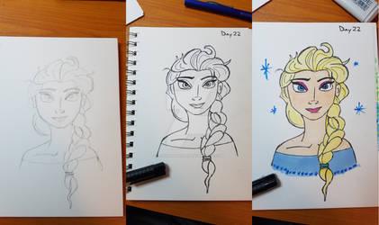 Inktober 2017 - Day 22, Elsa Day