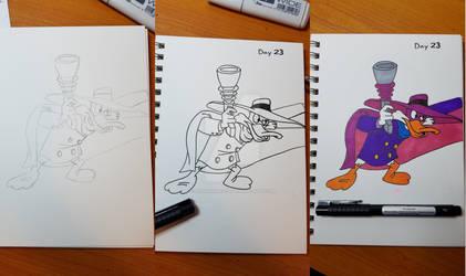 Inktober 2017 - Day 23, Darkwing Duck