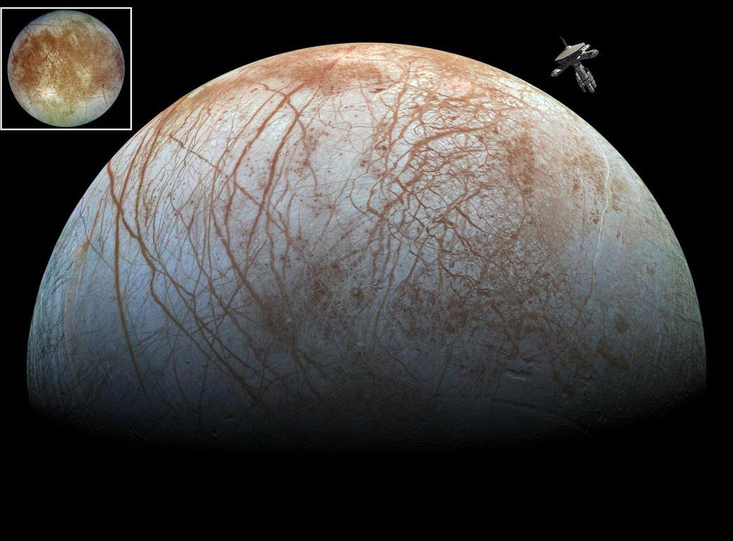 Europa Orbit by Valkaneer