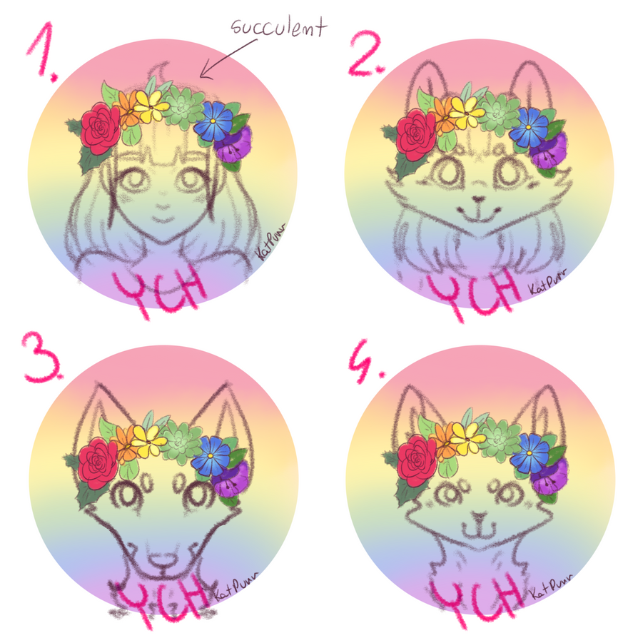 Rainbow flower crown icons auction closed by katpurr on deviantart rainbow flower crown icons auction closed by katpurr izmirmasajfo