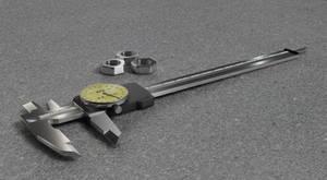 3D Caliper gauge by LoByteSo