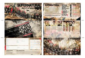 Supernatural Conf. '09 flyer by brucebah