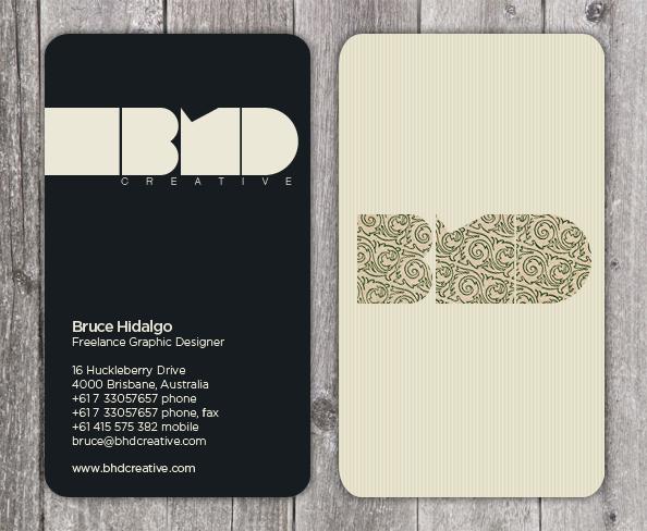 BHD Design business card