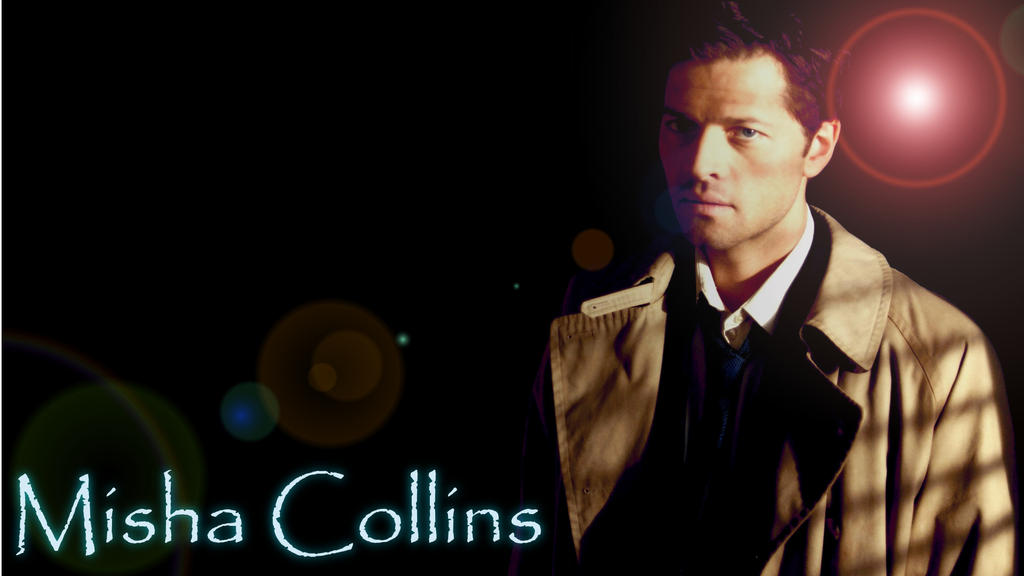 misha collins wallpaper by the light source on deviantart
