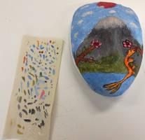 Schoolwork: Mask WIP: Painted
