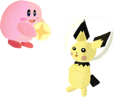 Light Kirby and Space Pichu for Charity
