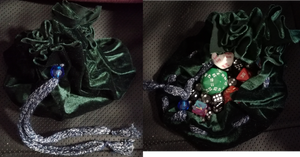 A no-sew dice bag