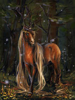 Vidar the forest king by Araxel