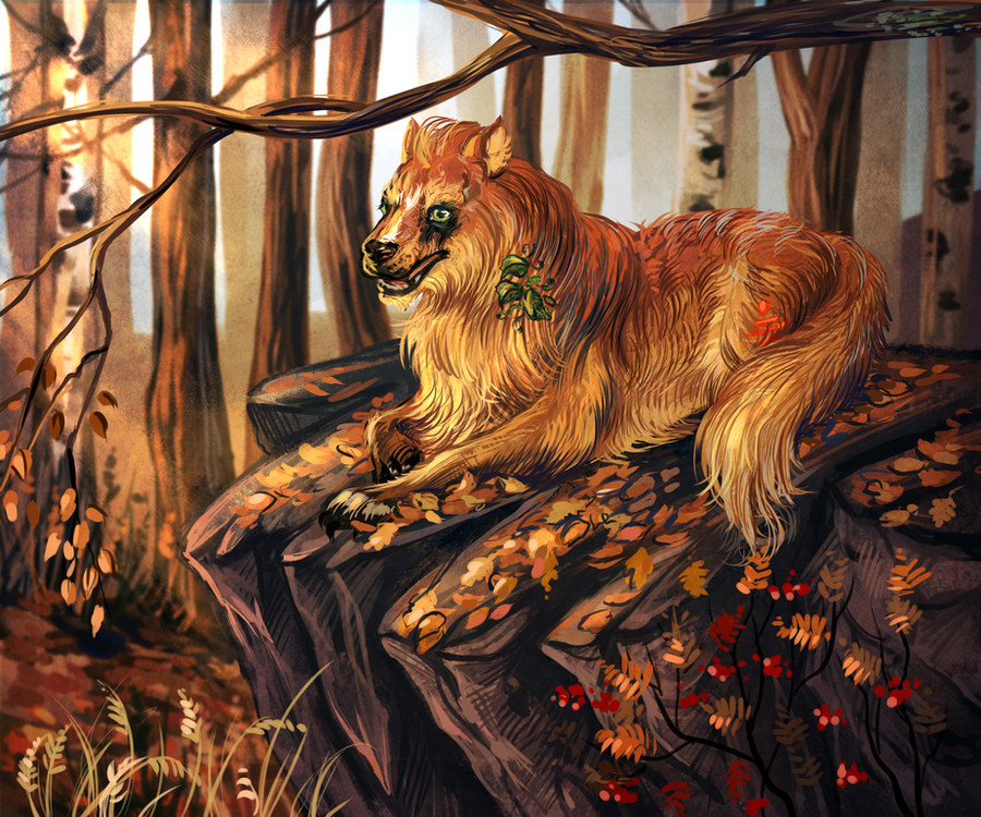 In the leaves by Araxel