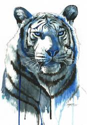 Ink Tiger by OliveArtOlive