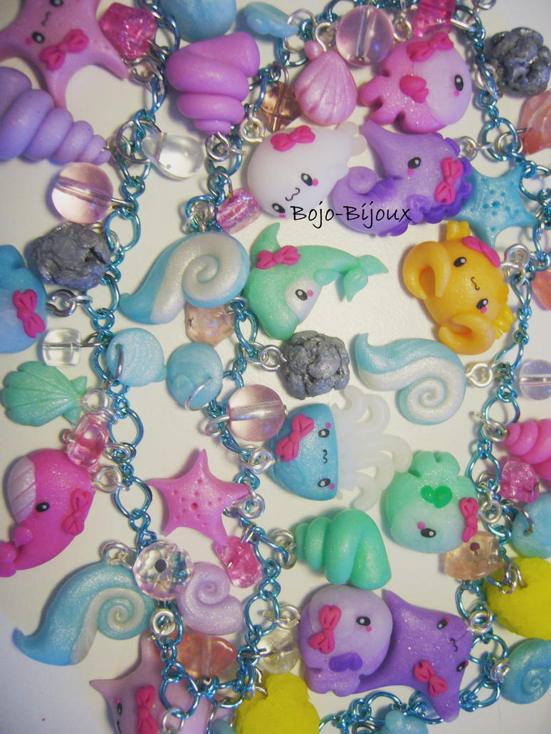 "Necklace ""Sea Life"" Detail by Bojo-Bijoux"