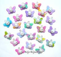 Kawaii 'Rabbitflies' by Bojo-Bijoux