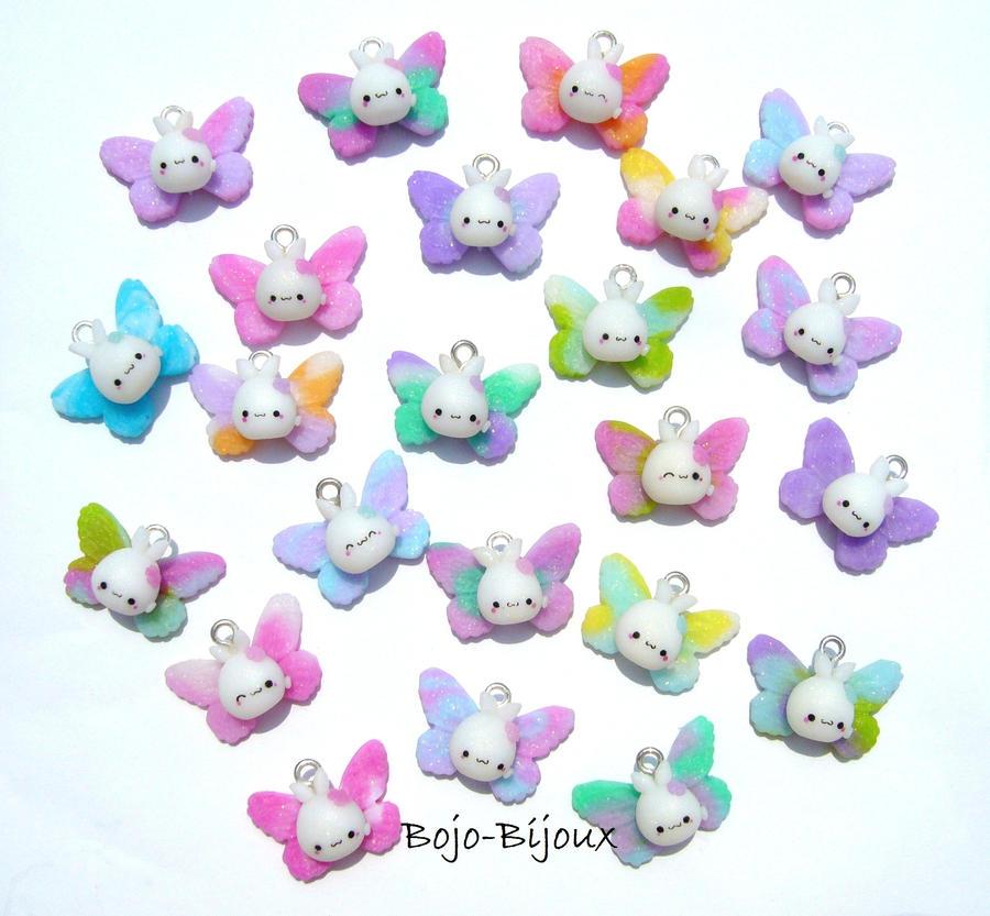 """Kawaii """"Rabbitflies"""" by Bojo-Bijoux"""