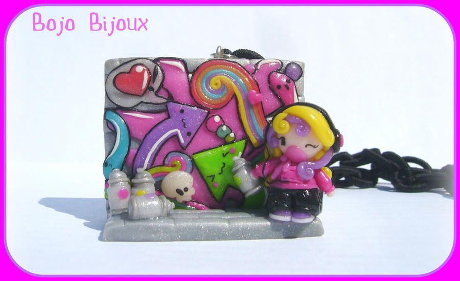 Kawaii Graffiti Necklace by Bojo-Bijoux
