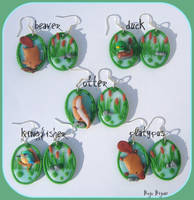 River animals earrings set by Bojo-Bijoux