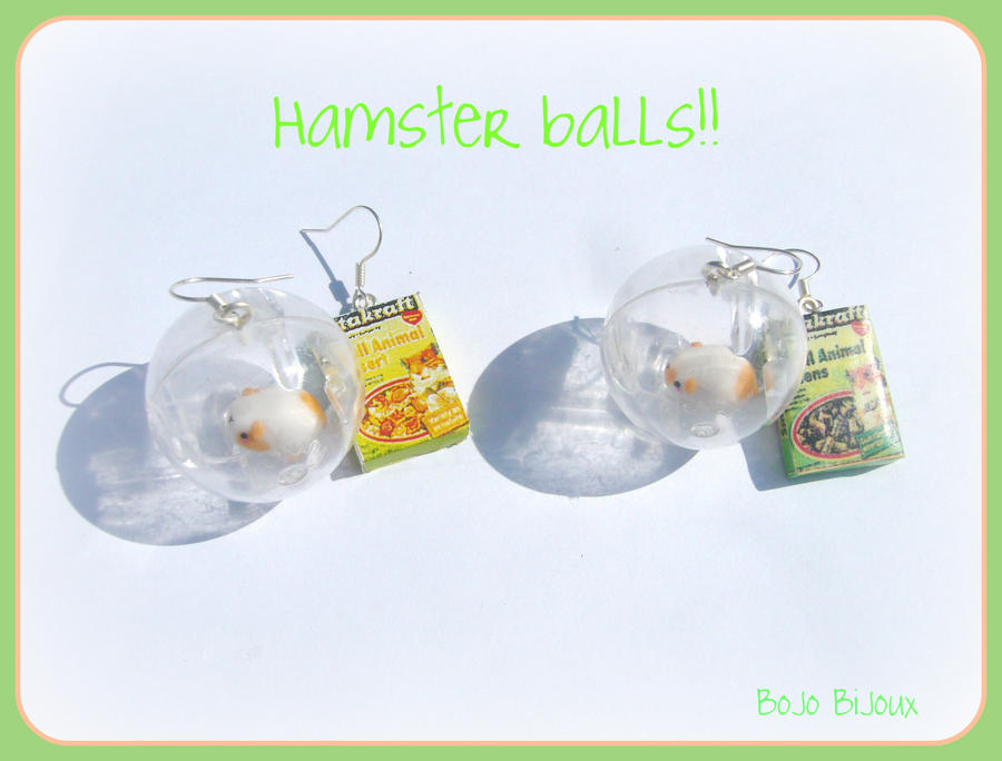 Hamster balls Earrings by Bojo-Bijoux