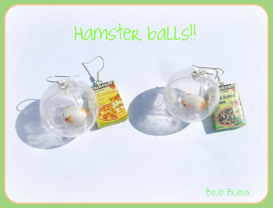 Hamster balls Earrings by Bojo-Bijoux