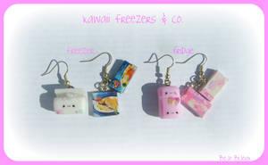 Kawaii Freezer and Fridge by Bojo-Bijoux