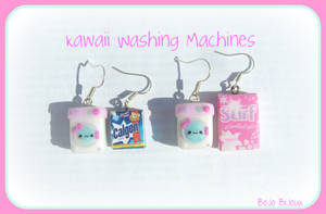 Kawaii Washin'Machine Earrings by Bojo-Bijoux