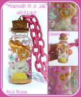 Mermaid in a jar Necklace