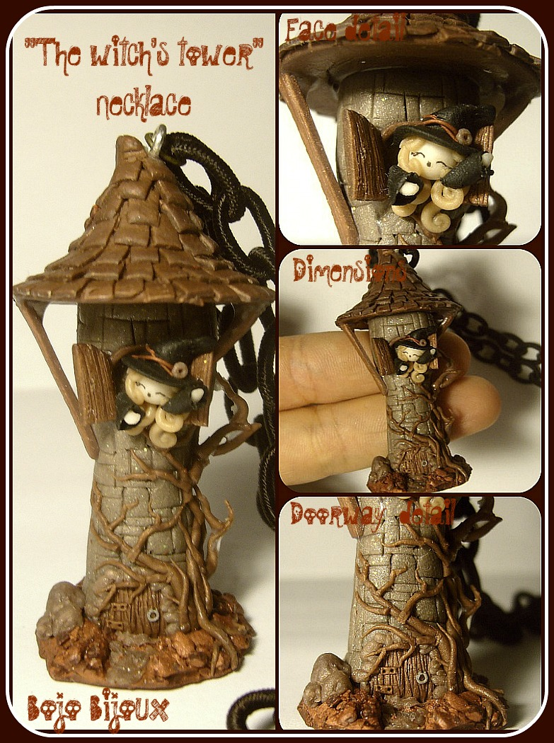 Witch's tower Necklace by Bojo-Bijoux