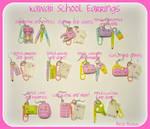 Kawaii School Earrings