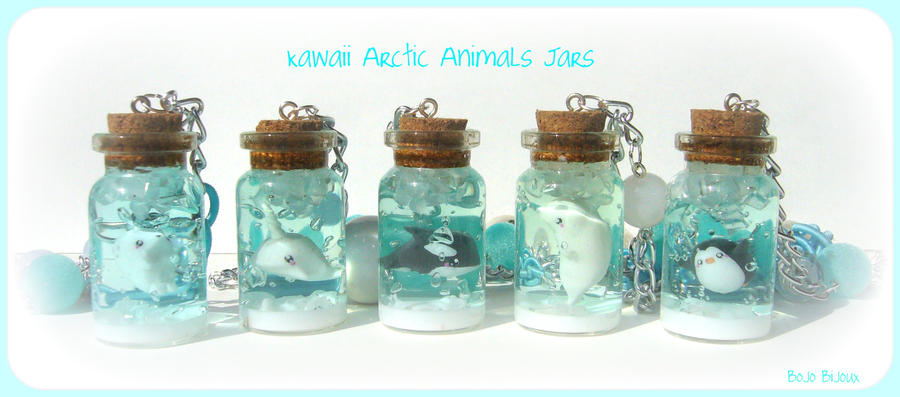 Kawaii Arctic Animals Jars by Bojo-Bijoux