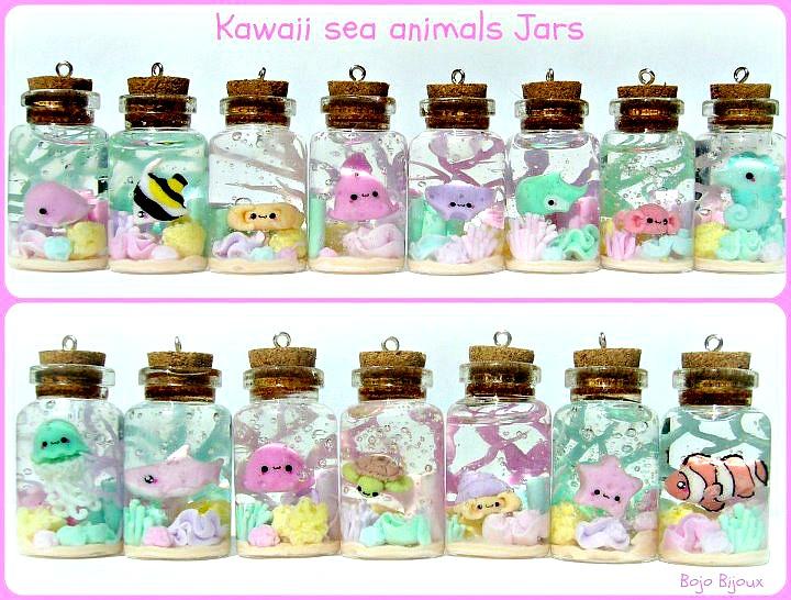 Kawaii Sea Animals Jars by Bojo-Bijoux