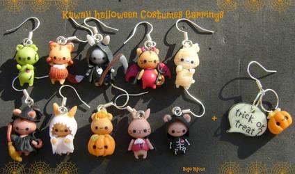 Kawaii Halloween Earrings by Bojo-Bijoux