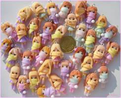 Wintern clay dolls by Bojo-Bijoux