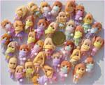 Wintern clay dolls