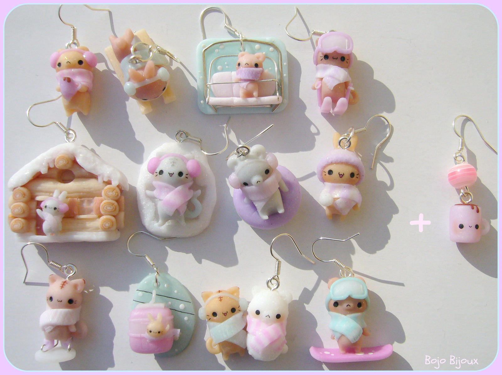 Image of: Porcelana Fria Cute Clay Animals Cute Clay Dhgatecom Animal Clay Charms Images Free Download