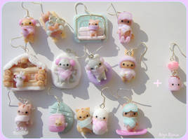 Kawaii wintern animals earrings