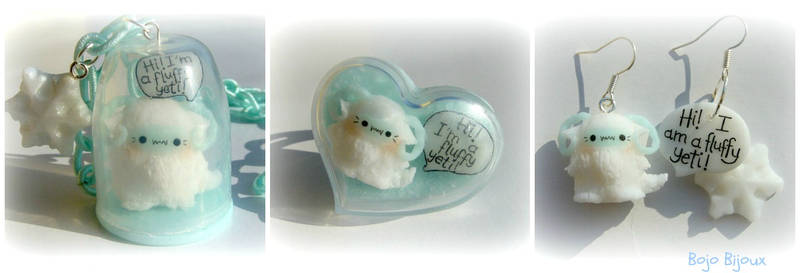 Kawaii Fluffy Yeti parure