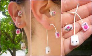 Kawaii tea bag ear cuff