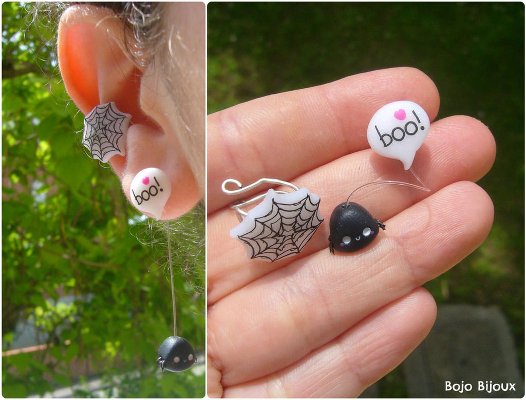 Kawaii Spider Ear Cuff by Bojo-Bijoux