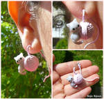 Cat and Wool Clew fake plug / earring