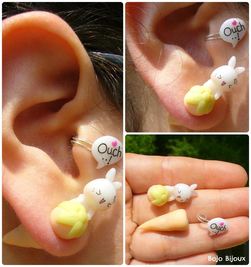 come on stupid carrot!  - fake ear plug by Bojo-Bijoux