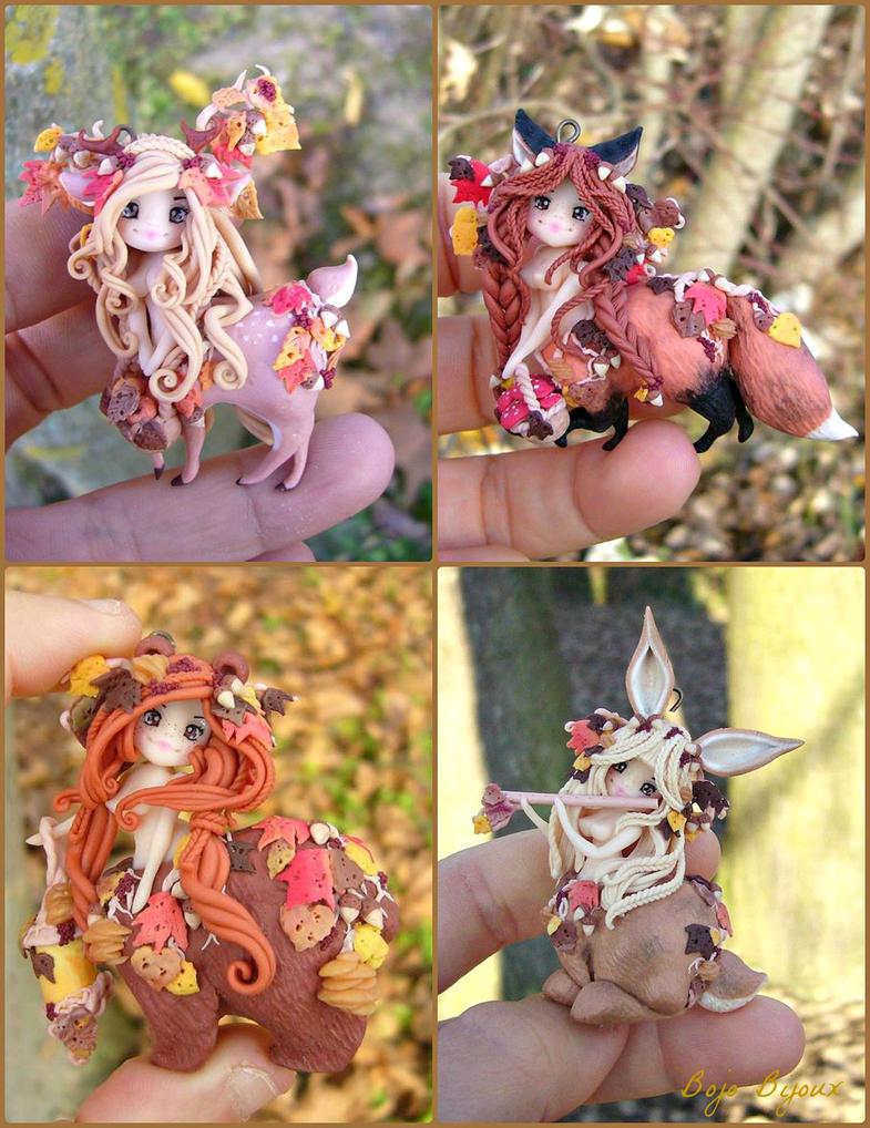 Autumnal Centaurs : complete mini collection by Bojo-Bijoux