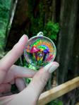 Tie Dye Mushroom Pendant for Deva
