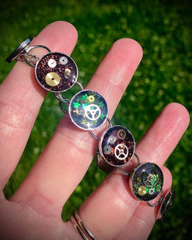 Illusion of Time - Steampunk Bracelet (3)
