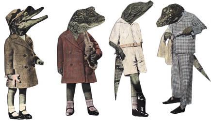 Crocodiles by GiannaPergamo