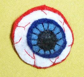 Felt Eyeball Barrette by GiannaPergamo