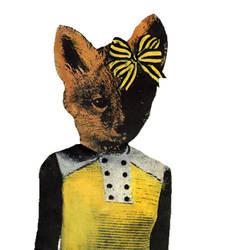 Fox with Yellow Bow by GiannaPergamo