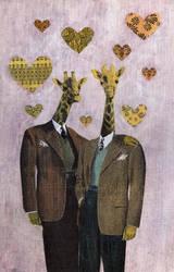 Gentlemen Giraffes by GiannaPergamo