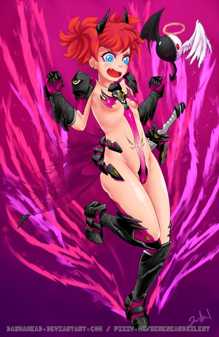 Dark Mahou Shoujo Commission by dashahead