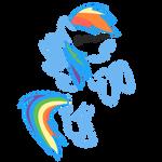 Quick Rainbow Dash T-Shirt Design