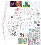 This is every pony that I drew in January 2020.