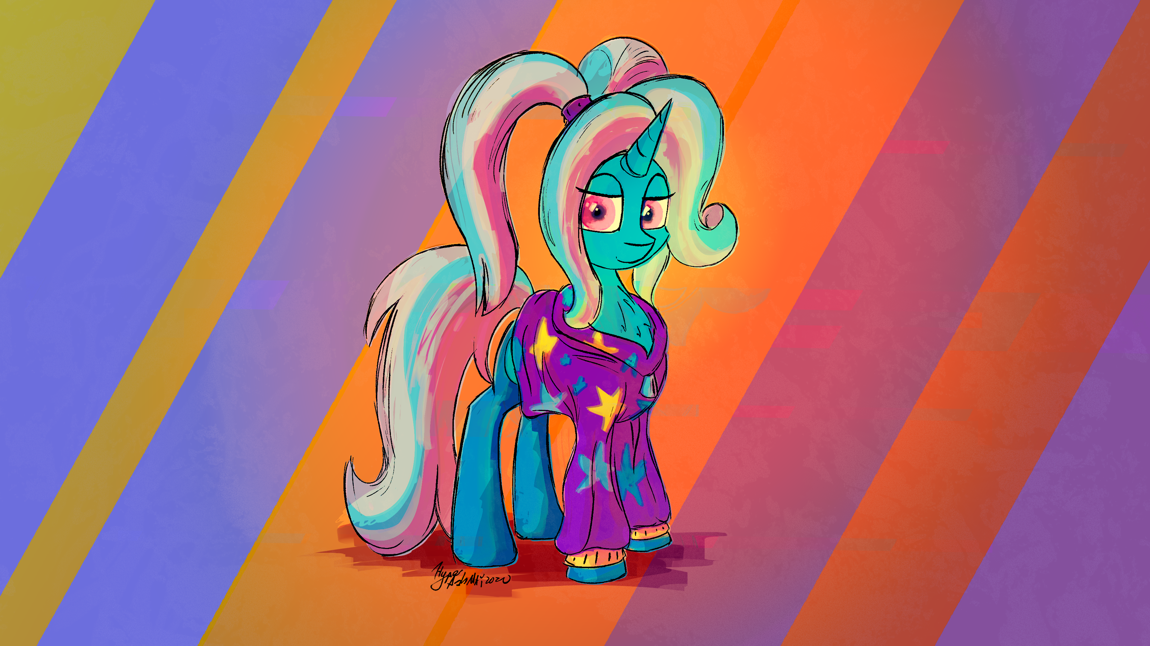 trixie in hoodie